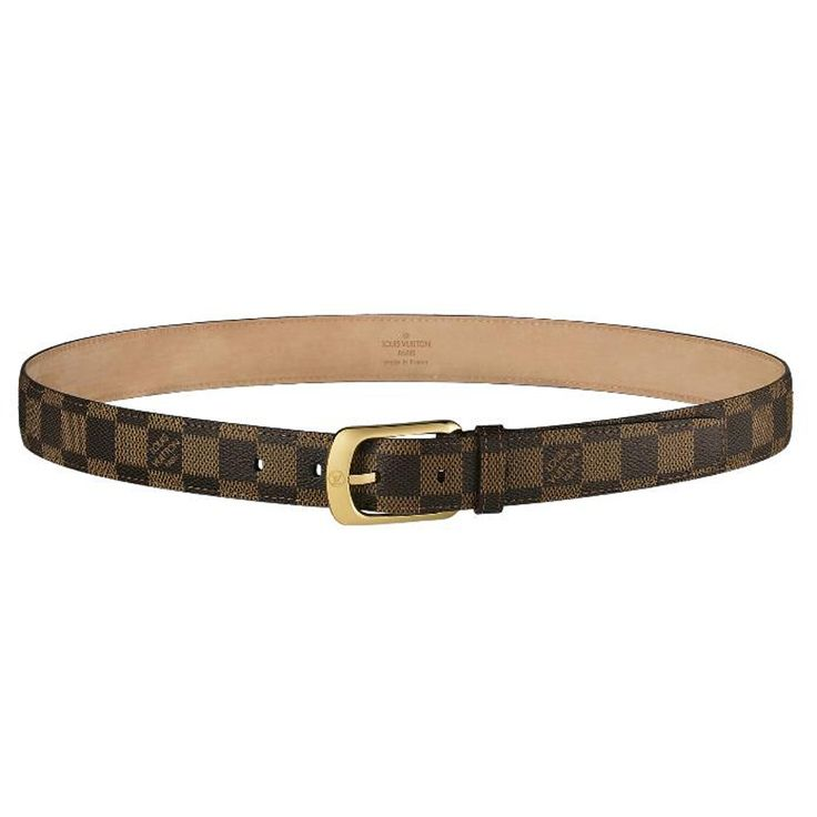 Fearture: * Rounded, gold finish buckle with the LV signature * Damier ca