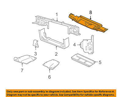 FORD OEM Radiator Core Support-Sight Shield Splash Cover Panel 3W7Z8C291AA