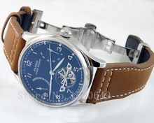 Parnis Power Reserve Chronometer 43mm Watch Black Dial seagull Movement E1293(China (Mainland))
