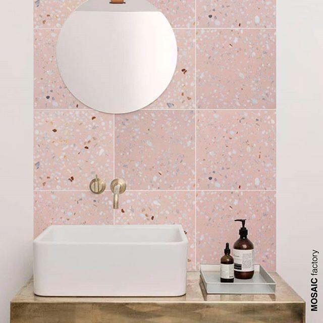 Terrazzo Gold Pink Bathroom Tiles Bathroom Wall Tile Room Tiles