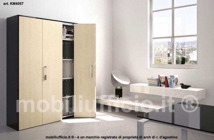 art. KM4057 - #mobile #armadio per #archivio #ufficio con ante apertura a libro