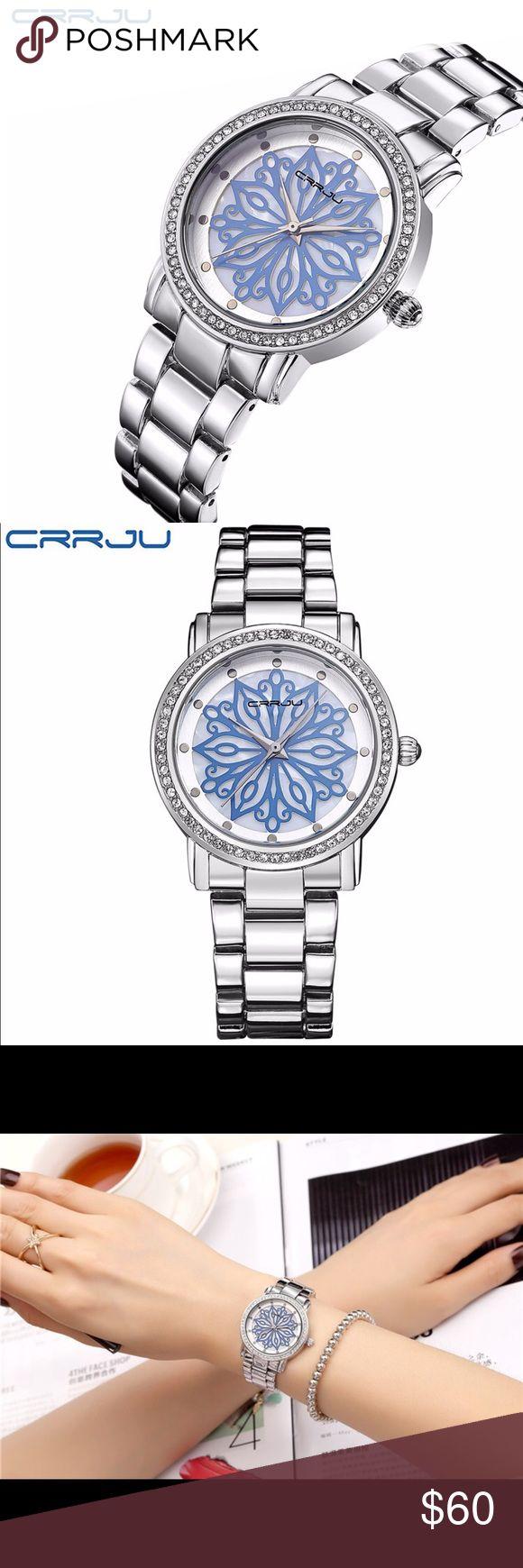 Relógio de quartzo para mulheres Relógio de luxo com marca CRRJU Resistente à água em aço inoxidável …   – My Posh Picks