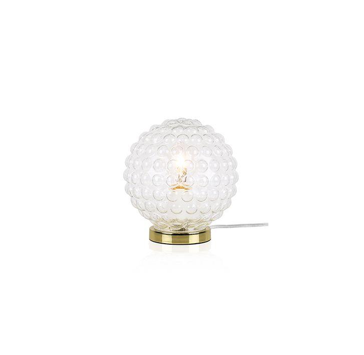 Bordslampor - Spring är gjord av bubbligt 20-tals glas som ger en vacker ljusspridning.