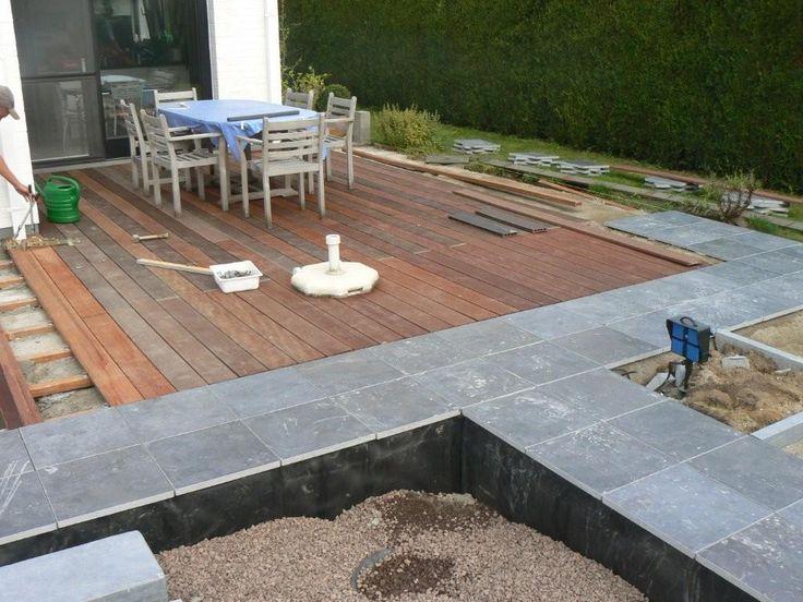 Terras combinatie hout steen google zoeken tuin pinterest search - Zwembad terras hout photo ...