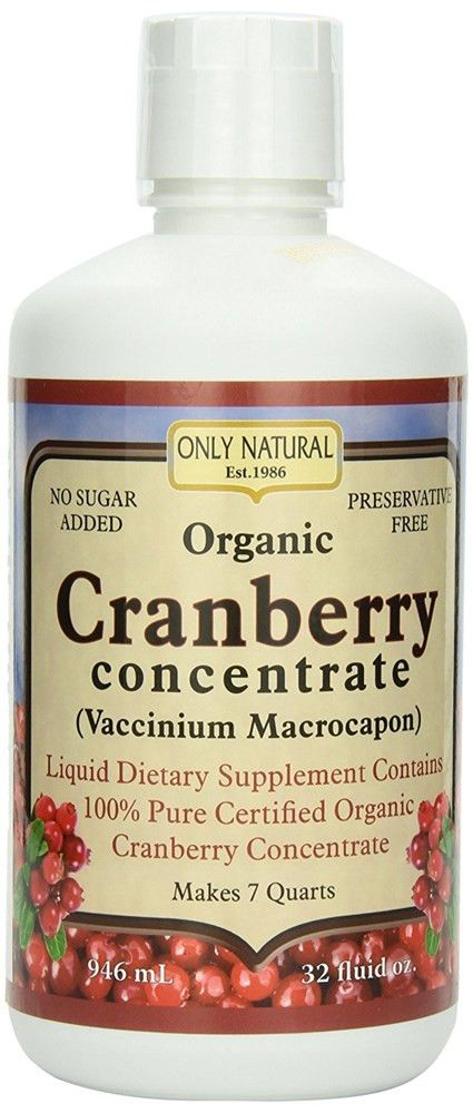 Only Natural Organic Cranberry Concentrate, 32-ounce