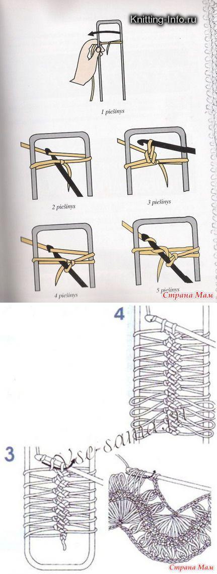 Рукоделие - вязание - вилка