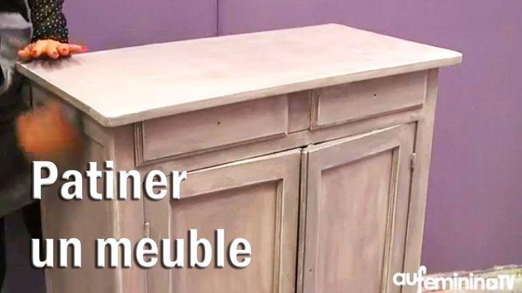Patiner un meuble - tutoriel vidéo : comment patiner un meuble