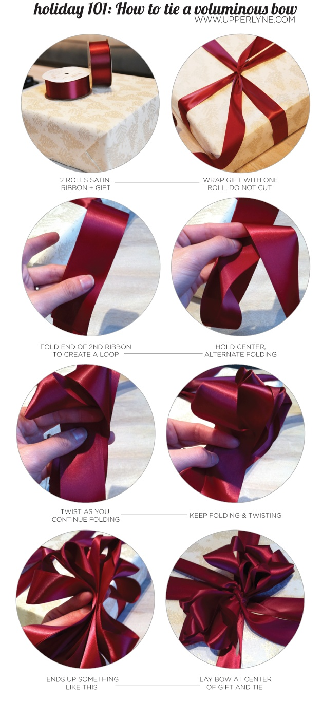 UPPERLYNE | home | holiday 101 | how to tie a voluminous bow