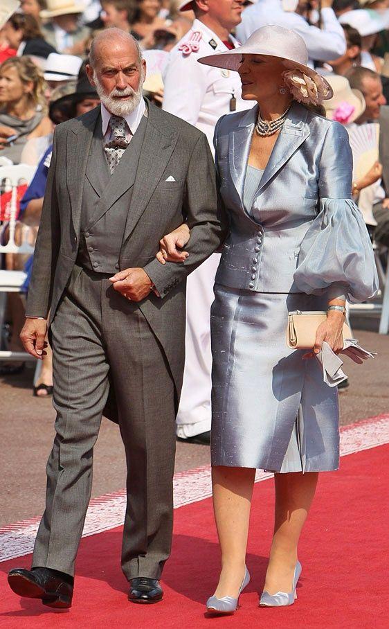El príncipe Miguel de Kent y su esposa  María Cristina