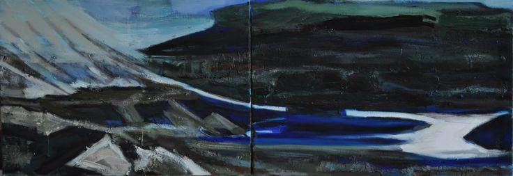 Bez Tytułu 1, Paulina Kowalczyk, olej, 140 x 50, 2013