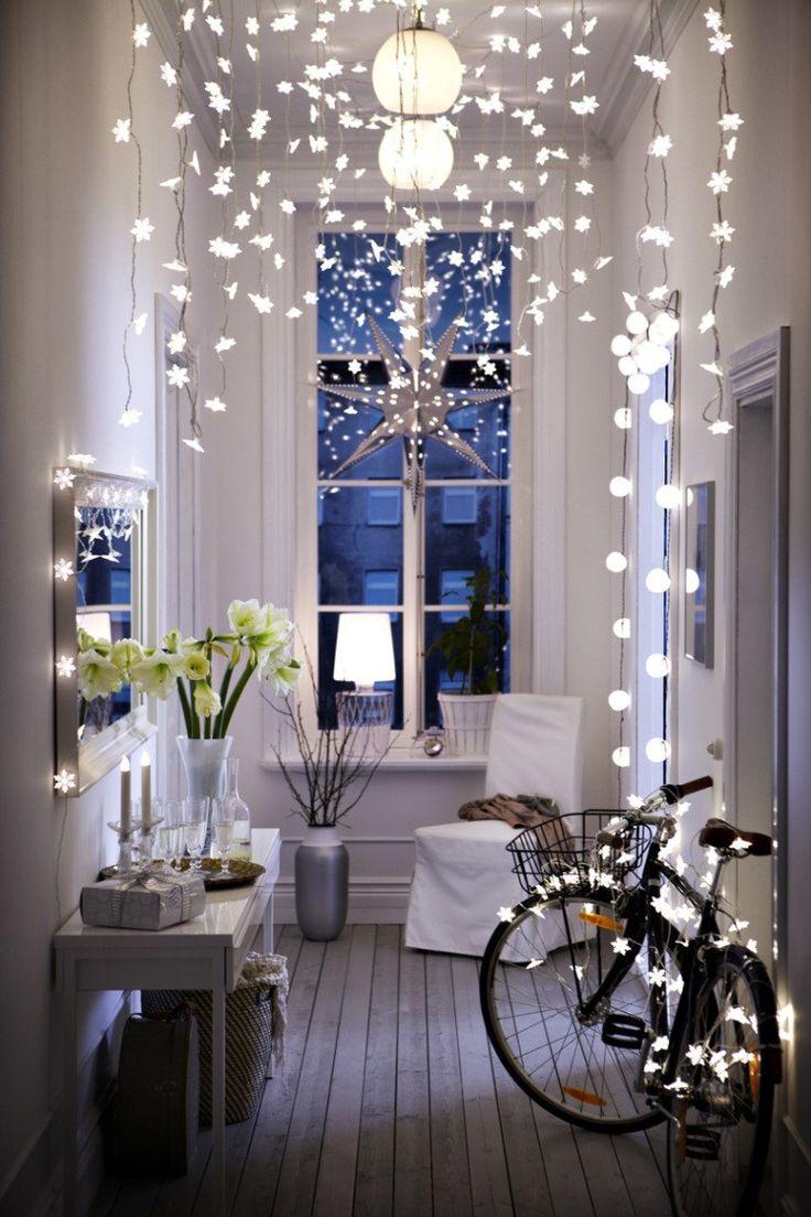 Luces y guirnaldas en la decoración nórdica navideña - Delikatissen  #decoración #navidad