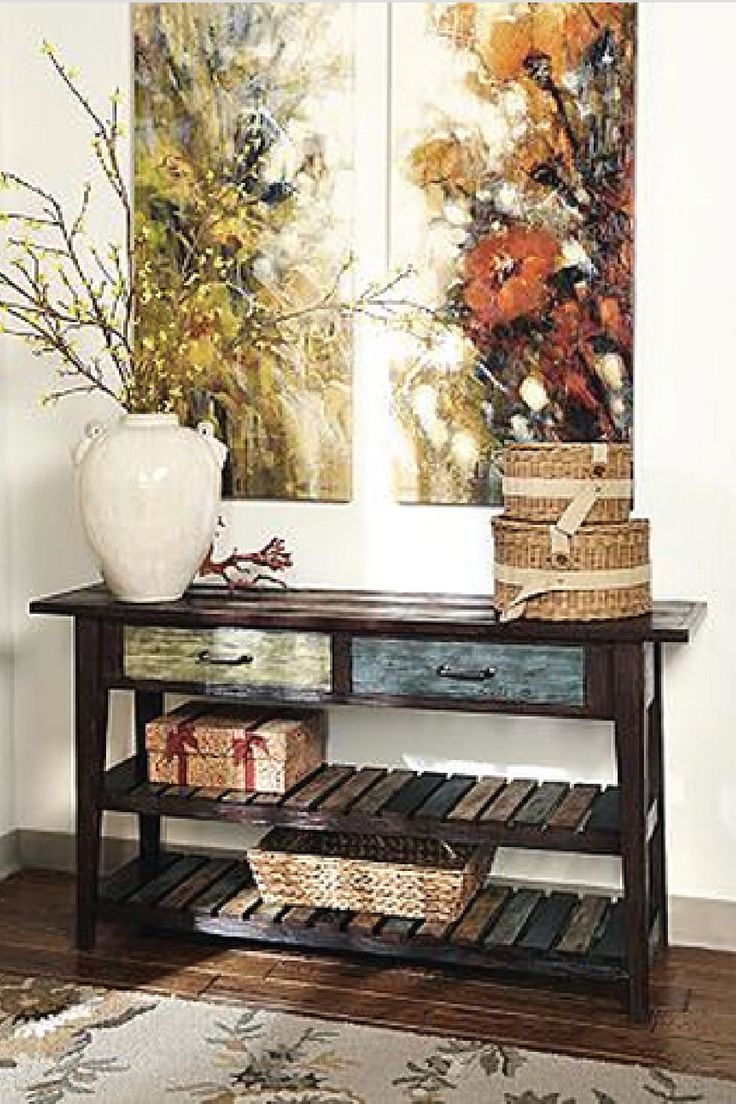 From Ashley Furniture HomeStore · Rustic And Chic, This Beautiful Wooden  Sofa Table Is An Easy Way To Bring A Good Looking