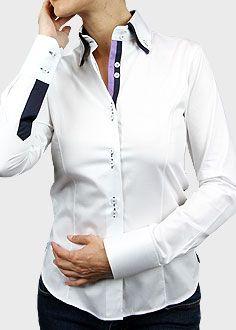 camisa italiana doble cuello mujer - Buscar con Google