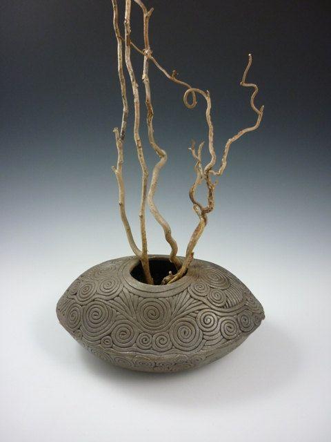 WoodFired CoilBuilt Vessel by KulshanClayworks on Etsy $195