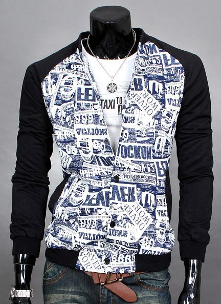 Black blue newspaper jacket