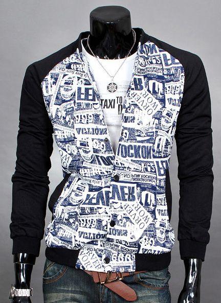 Black blue newspaper jacket