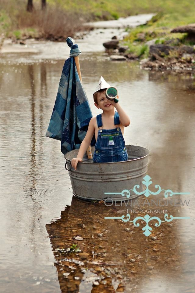 Country Living ~ boys and creeks: