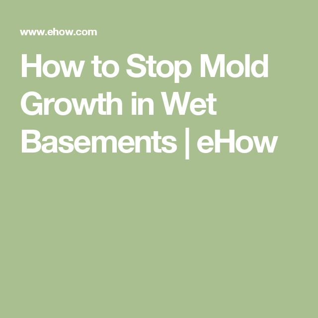 How to Stop Mold Growth in Wet Basements | eHow