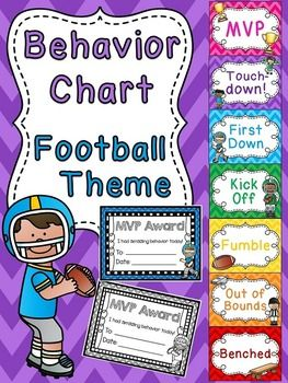 Behavior Chart with a fun football theme$
