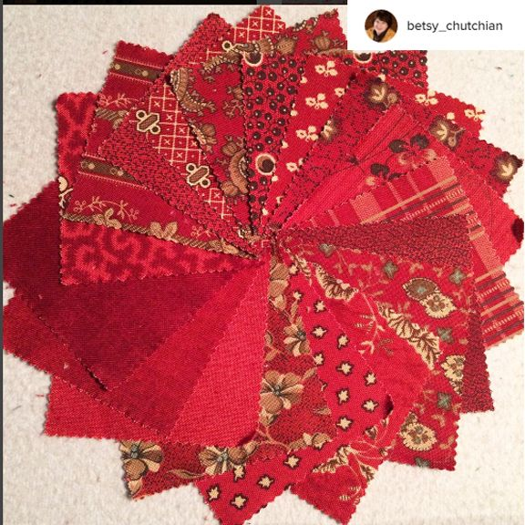 Betsy Chutchian posted a stack of red repros on Instagram