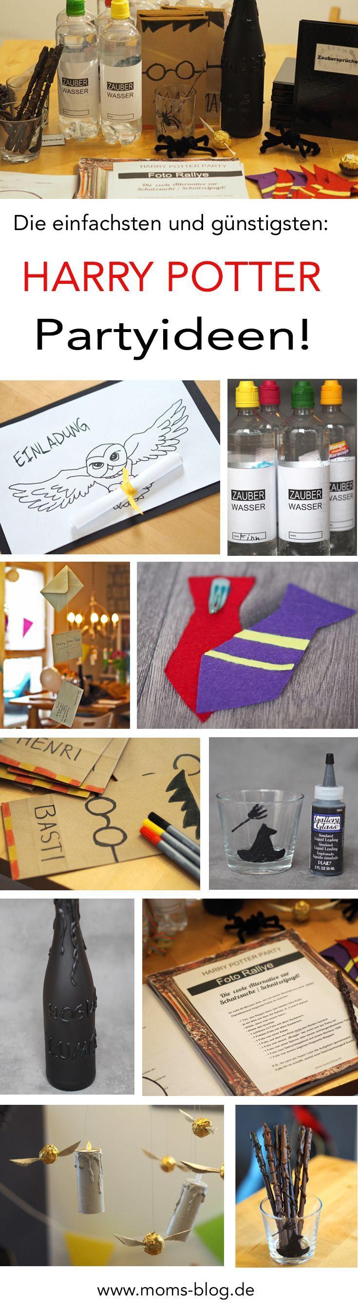 Die einfachsten, günstigsten & coolsten DIY Ideen für einen Harry Potter Kindergeburtstag bzw. eine Harry Potter Party! http://www.moms-blog.de