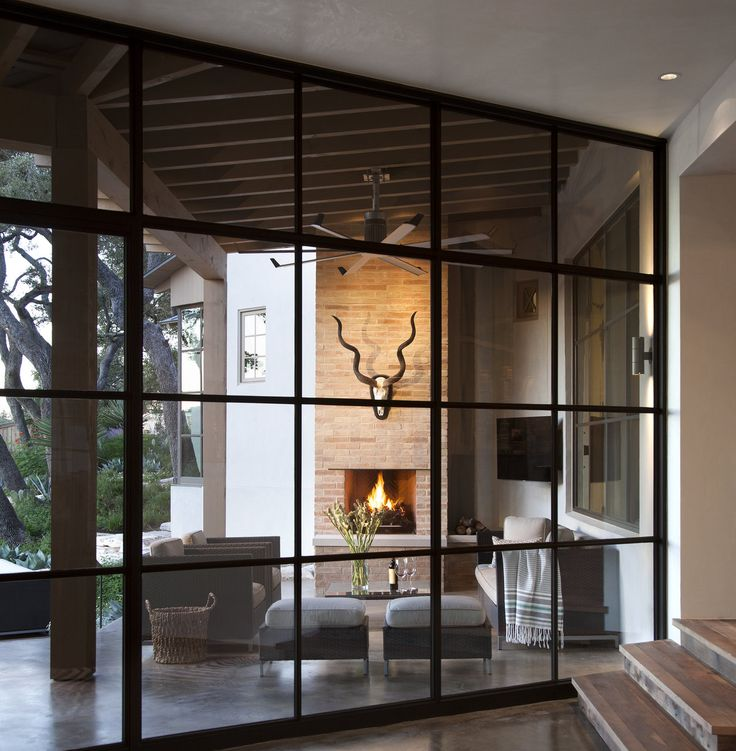 Fireplace, Windows, Fan. Richard Lane | Ryan Street Associates