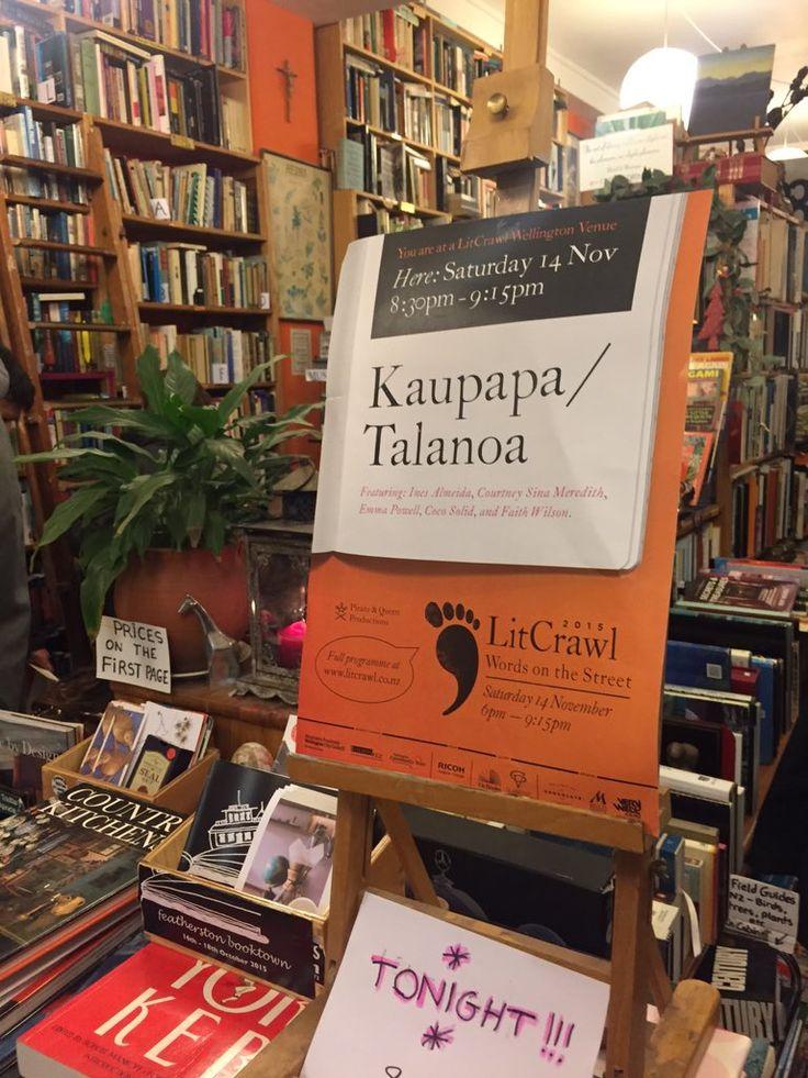 "Vic Books on Twitter: ""Kaupapa / Talanoa at Pegasus Books #litcrawlwellington at 8:30 https://t.co/vTd3XusCth"""
