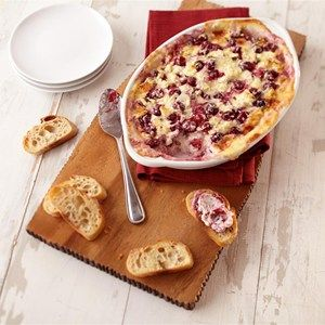 Baked Cranberry Jalapeno Dip.Tart and spicy, this baked cheese dip will liven up any gathering.  Allrecipes.com