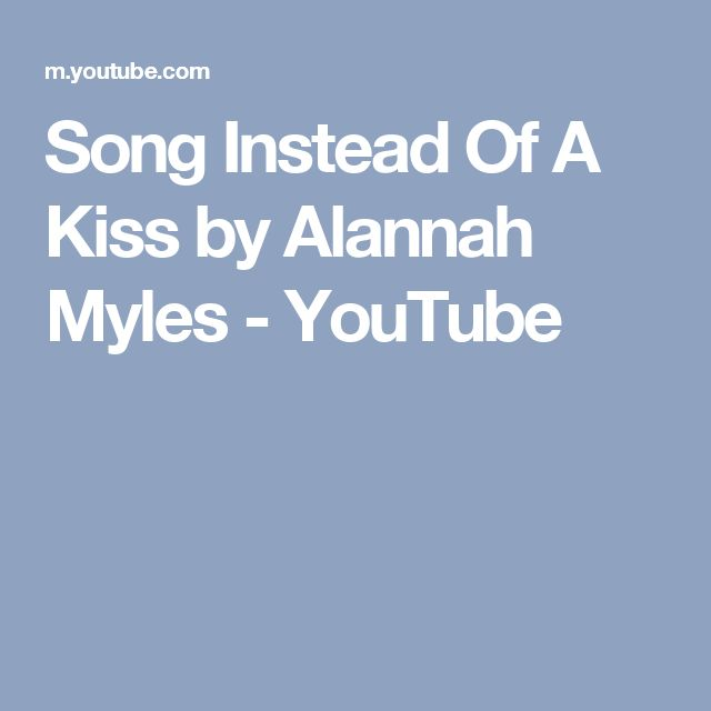 Song Instead Of A Kiss by Alannah Myles - YouTube