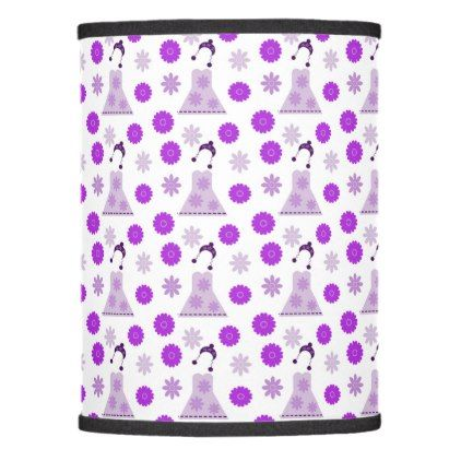 lilac dress on white lamp shade - white gifts elegant diy gift ideas