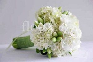 White Hydrangea & Spring Tulip Bridal Bouquet
