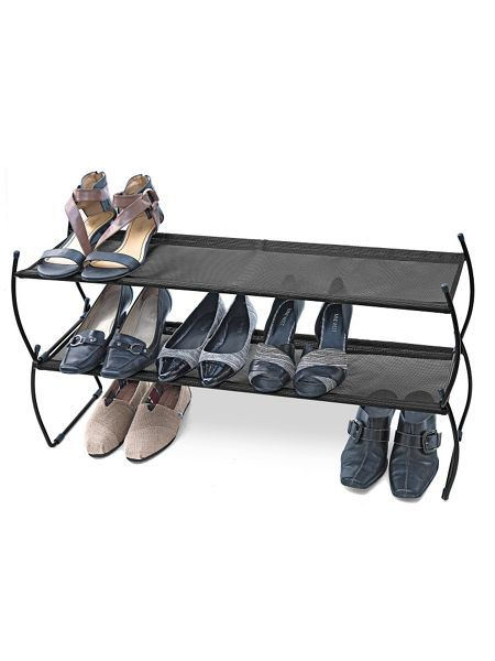Stackable Shoe Rack (set of 2) - Get your shoes off the floor and onto these Stackable Shoe Racks. There's plenty of height between them to store even your flirtiest heels. Solutions.com