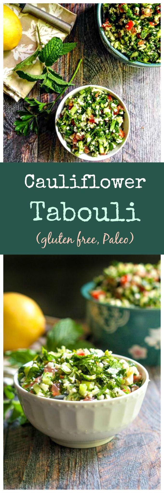 Cauliflower Tabouli (gf, Paleo) – Dan330