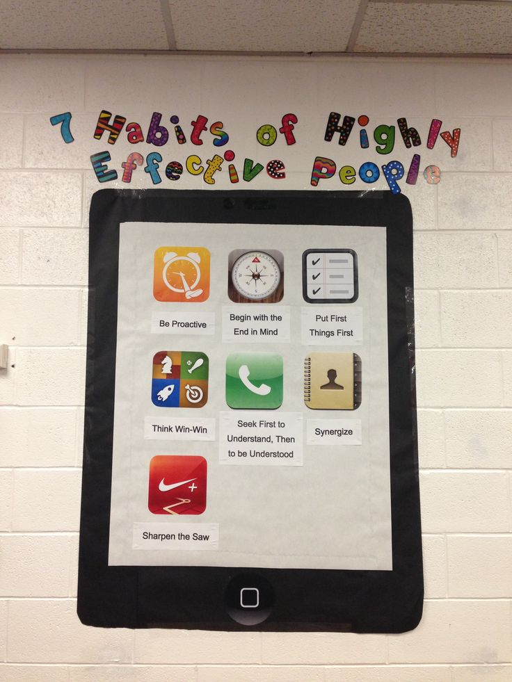 7 Habits of Highly Effective People iPhone Bulletin Board