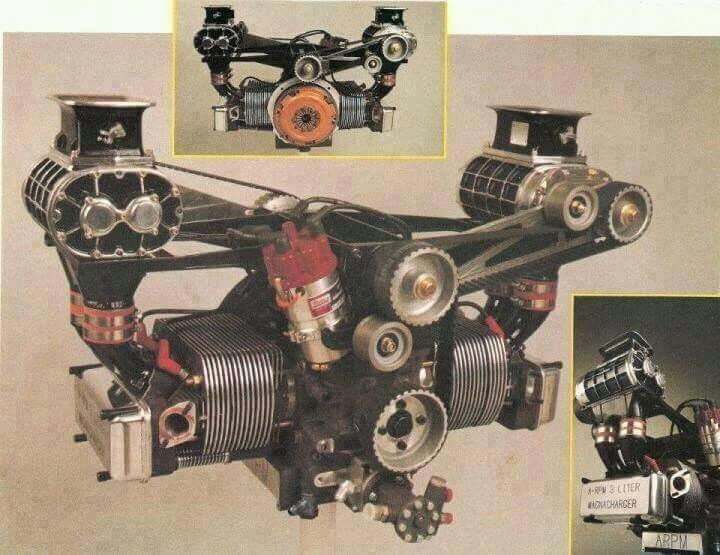 VW aircooled flat four twin supercharger