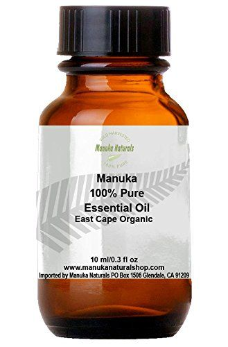 Manuka Oil 100% Pure East Cape Natural Anti-Fungal & Antiseptic-10x Stronger Than Tea Tree Oil-Wild Harvested Organic-Rare Aromatherapy Oil-Fights Acne, Foot Fungus, Skin Conditions -Insect Bite Remedy-Natures Medicine Cabinet In a Bottle! Manuka Naturals