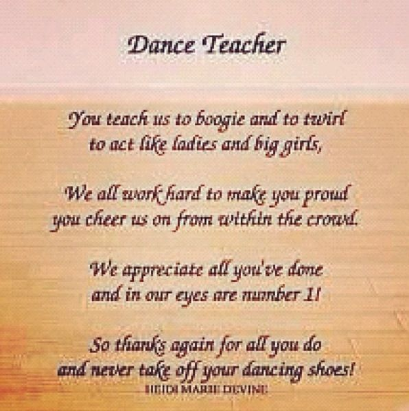 Quotes About Dance Teachers. QuotesGram by @quotesgram