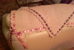Gorgeous baby blanket for a little girl