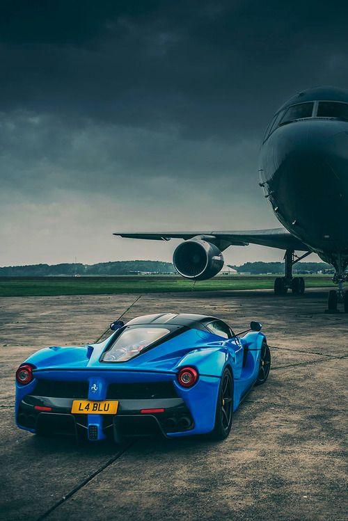 Blue Ferrari Italia