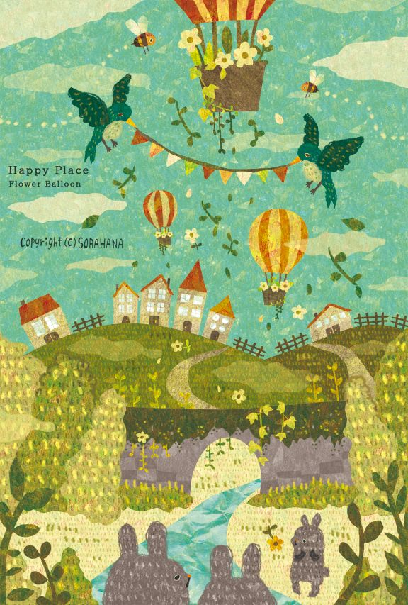Happy Place by むうめぐ | CREATORS BANK http://creatorsbank.com/sorahana/works/274163