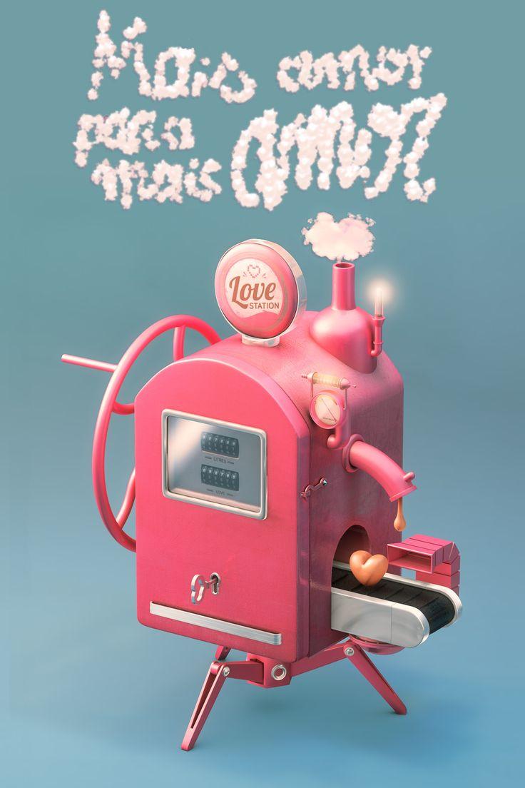 """Projet """" Mais Amor para mais amor """" - Cinema 4D - fabb - 2014"""