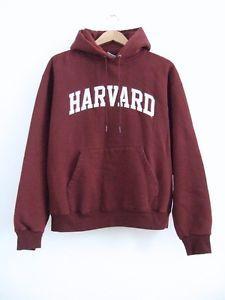 Harvard University Champion Hoodie Burgundy Size L Hooded Sweatshirt Pullover | eBay