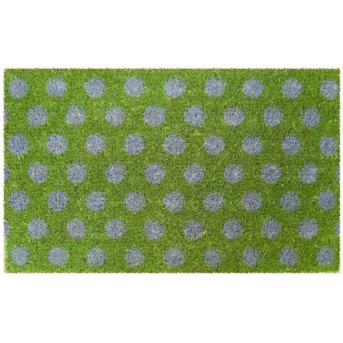 Blue Polka Dots Design Coir Doormat By Coco Mats N More. $36.98. Durable And