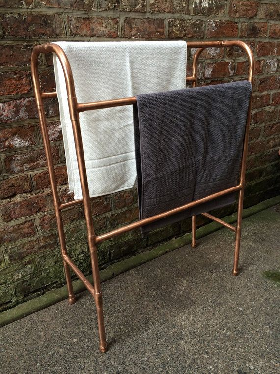 Freestanding Copper Towel Rail by TheMagpiesCabinet on Etsy