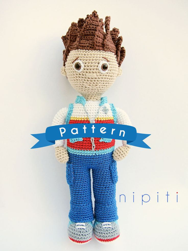 This is a crochet pattern PDF for Ryder - NOT the actual finished doll at the photos! If you dont crochet yourself you can buy finished Ryder or his friends from Paw Patrol in my Etsy Shop, here: https://www.etsy.com/shop/nipiti?section_id=14475013 Ryder is a 10-year-old boy who is the leader of the PAW Patrol crew. He is very smart and he leads the pups on missions to help the citizens of Adventure Bay. How about crochet Ryder by yourself as a best friend for ...