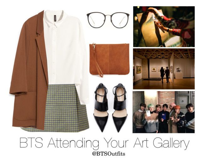 """""""BTS Attending your Art Gallery"""" by btsoutfits ❤ liked on Polyvore featuring Paul & Joe, H&M, Zara and Linda Farrow"""