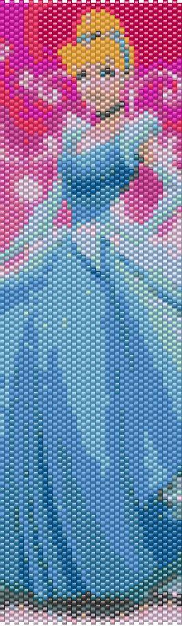Cinderella Peyote Cuff Bracelet Pattern by CKFJewelryDesigns