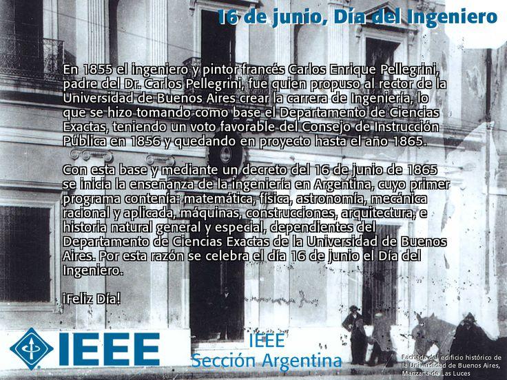 Hoy es 16 de junio y hace 150 años se establecía la primera carrera de ingeniería en Argentina… ¡Feliz Día del Ingeniero! http://kcy.me/24h6h