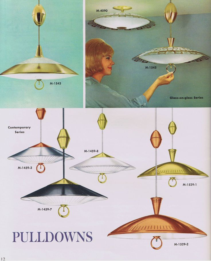 Mid Century Modern Moe Pulldowns - 1963