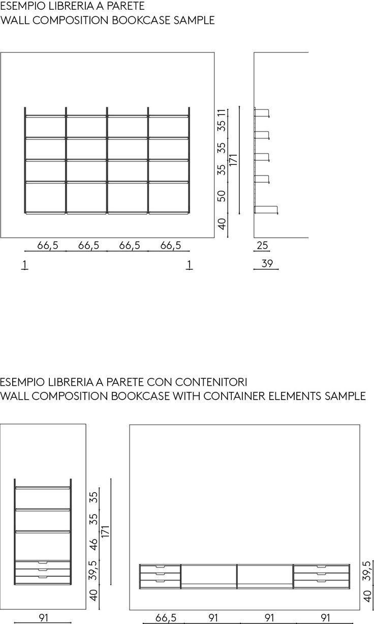 Oltre 25 fantastiche idee su librerie a parete su for Mensole alluminio ikea